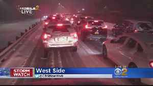 Snow Snarls Evening Commute Across Tri-State Area [Video]