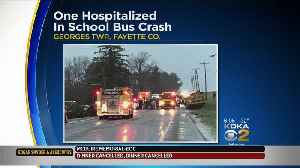 1 Hospitalized After Crash Involving School Bus, Vehicle [Video]
