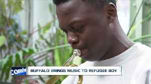 16-year-old refugee forced to leave trumpet behind. Buffalo keeps music alive. [Video]