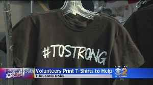 Volunteers Print T-Shirts To Help Borderline Shooting Victims [Video]