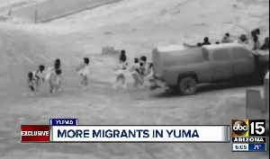 More migrants reach border towns in Mexico, entering Yuma [Video]