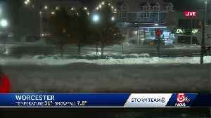 Snow piles up in Worcester [Video]