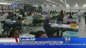 Broward County Preps For Hand Recount In Senate and Agriculture Commissioner Races [Video]