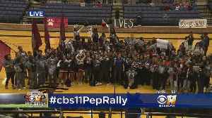 CBS 11 Pep Rally Comes To A Close At Mansfield Timberview High School [Video]