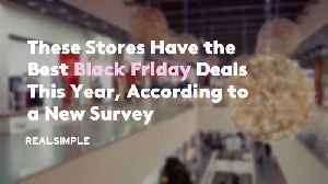 These Stores Have the Best Black Friday Deals This Year, According to a New Survey [Video]