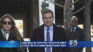 Federal Judge Rules CNN's Jim Acosta Can Keep White House Press Pass [Video]