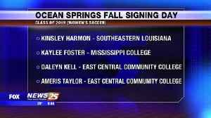Ocean Springs Fall Signing Day Class of 2019 [Video]