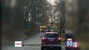 Drivers blocking road at bus stops potentially put more kids in danger [Video]
