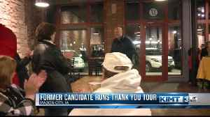 Former candidate runs 'thank you' tour [Video]