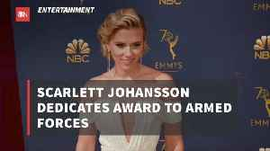 Scarlett Johansson Dedicated Her Award To Real Heroes [Video]