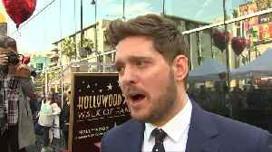 Crooner Michael Buble receives star on the Hollywood Walk of Fame [Video]