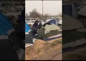 Camp Fire Evacuees Build Tent Camp at Chico Walmart [Video]