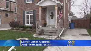 North Side Driver Backs Into Neighbor's Front Porch [Video]