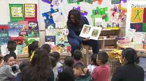 Former First Lady Michelle Obama Pays Surprise Visit to Preschoolers [Video]