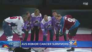 Man Battling Cancer Drops Puck At Avs Game [Video]