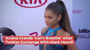 Ariana Grande And Mark Hamill Twitter Back And Fourth [Video]
