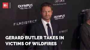 Gerard Butler Houses Victims Of Fire [Video]