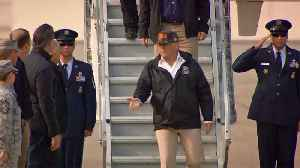 Raw Video: Trump Arrives at Beale AFB to Tour Wildfire Devastation [Video]