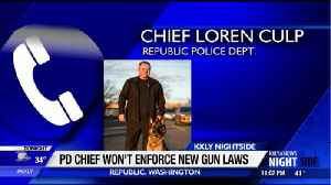 Police chief in eastern Washington says his officers won't enforce new gun laws [Video]