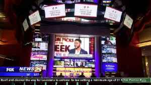 Sports book opening at the Scarlet Pearl Casino [Video]