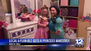 Local 6-Year-Old Gets A Princess Makeover [Video]