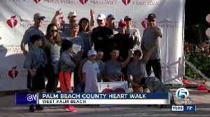 2018 Palm Beach County Heart Walk held in West Palm Beach [Video]