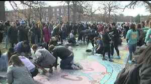 Drake Students, Staff Paint `Painted Street` Black Following Racist Incidents [Video]