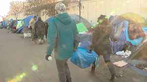 Augsburg Students Bring Supplies, Winter Gear To Mpls. Homeless Camp [Video]