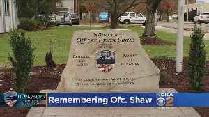 Memorial To Honor Fallen Officer Brian Shaw Dedicated A Year After His Death [Video]