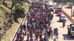Migrant Caravan Settles Near US-Mexico Border [Video]