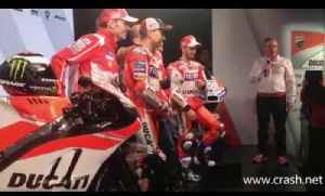 FIRST LOOK: Jorge Lorenzo in Ducati red for first time [Video]