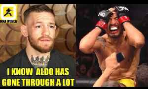 Conor Mcgregor reacts to Jose Aldo's victory and his emotional celebartion,Cody on TJ Dillashaw [Video]