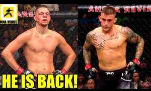 Nate Diaz is back after more than 2 Years will fight Dustin Poirer at UFC 230,UFC 227 Face Off [Video]