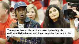 Travis Scott, Kylie Jenner And Their Daughter Go On Tour Together [Video]