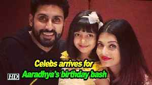 Celebs and kids arrives for Aaradhya's birthday bash [Video]