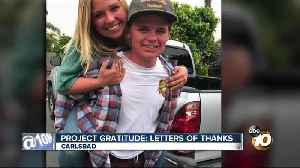 Project Gratitude: HS students show thanks [Video]
