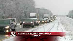 Accidents near Okemos exit cause slowdowns on 96 WB [Video]