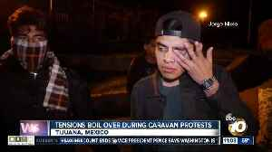 Tensions boil over during caravan protests [Video]