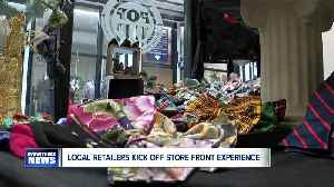From bow ties to spa kits-- small business owners try out a store front in the Market Arcade [Video]
