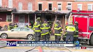 One person injured in Wilkens Avenue row home fire [Video]