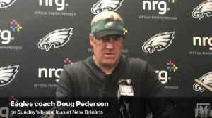 VIDEO: Eagles coach Doug Pederson speaks after loss to Saints [Video]