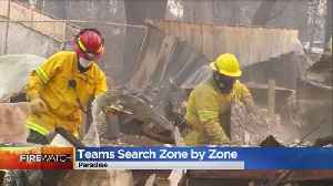 Searchers Going Through Paradise Looking For Remains Of Deceased [Video]