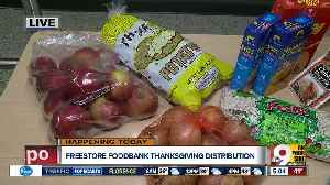 Freestore Foodbank distributes Thanksgiving meals today and tomorrow in OTR [Video]
