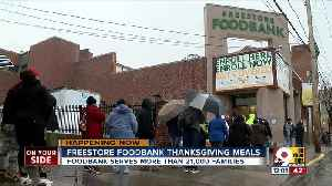 Freestore Foodbank provides Thanksgiving meals [Video]