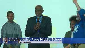 Justice Page Brings Presidential Medal To Minneapolis School [Video]