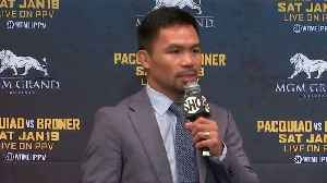 Pacquiao not letting Mayweather talk distract from Broner bout [Video]
