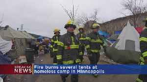 Fire At Homeless Camp Prompts New Concerns As Temps Drop [Video]