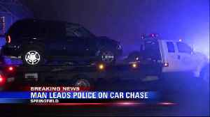 man leads police on car chase [Video]
