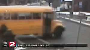 Ilion school bus driver caught on camera going through stop sign. [Video]