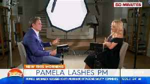 News video: Pamela Anderson accuses Australian PM of making 'lewd' comments about her